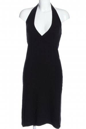 United Colors of Benetton Vestido de cuello Halter negro look casual