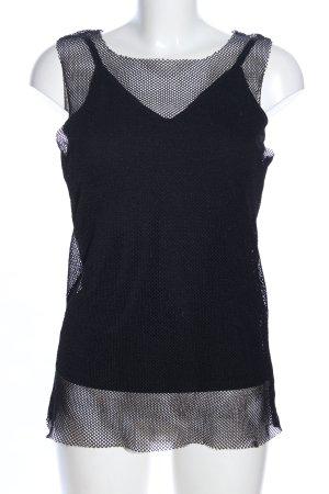 United Colors of Benetton Netshirt zwart Webpatroon extravagante stijl