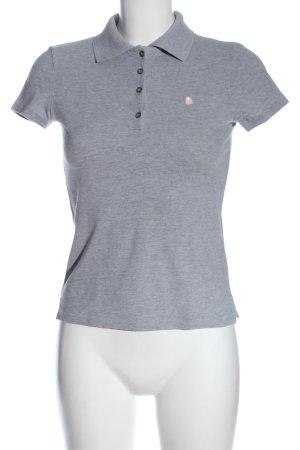 United Colors of Benetton Camiseta tipo polo gris claro moteado look casual