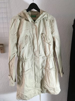 Benetton Heavy Raincoat oatmeal cotton