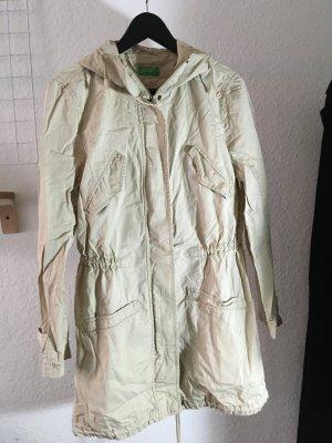 Benetton Manteau de pluie beige clair coton