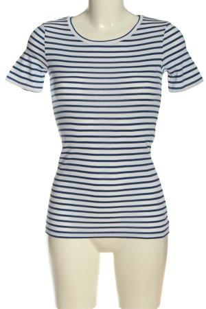 United Colors of Benetton Gestreept shirt wit-blauw gestreept patroon elegant