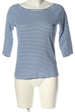 United Colors of Benetton T-shirt rayé bleu-blanc imprimé allover