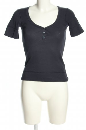 United Colors of Benetton Rippshirt schwarz Casual-Look