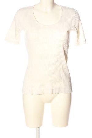 United Colors of Benetton Camisa acanalada blanco puro look casual