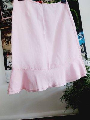 United Colors of Benetton Linen Skirt light pink linen