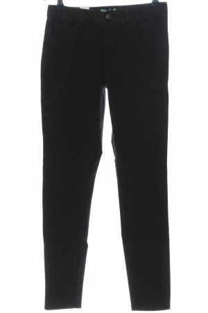 United Colors of Benetton Drainpipe Trousers black casual look