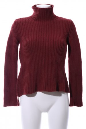 United Colors of Benetton Rollkragenpullover rot Casual-Look