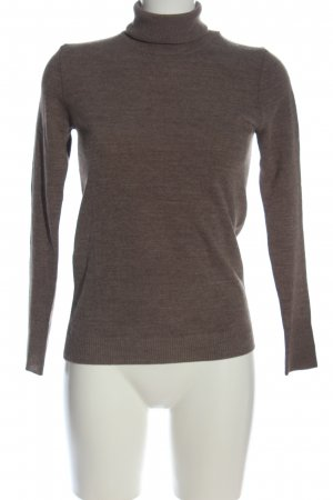 United Colors of Benetton Rollkragenpullover braun-nude meliert Business-Look