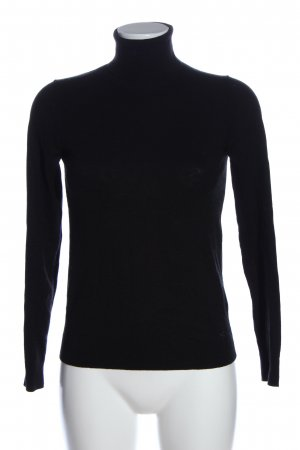 United Colors of Benetton Turtleneck Shirt black casual look