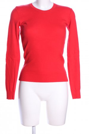 United Colors of Benetton Rundhalspullover rot Casual-Look