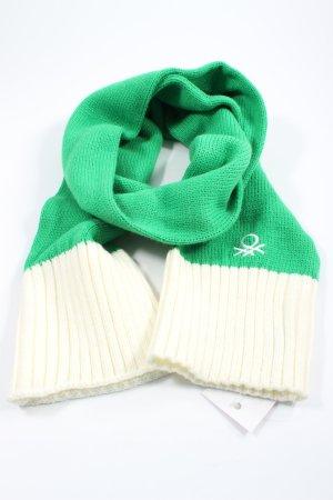 United Colors of Benetton Bufanda de punto verde-blanco puro look casual