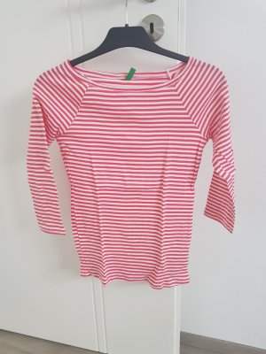 United Colors of Benetton Boatneck Shirt white-red