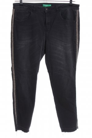 United Colors of Benetton Slim Jeans schwarz Casual-Look