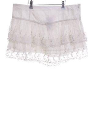 United Colors of Benetton Falda de encaje blanco estilo extravagante