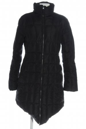 United Colors of Benetton Quilted Jacket black quilting pattern casual look