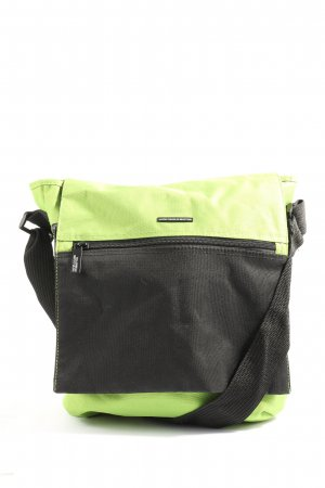 United Colors of Benetton Bolso de tela verde-negro look casual