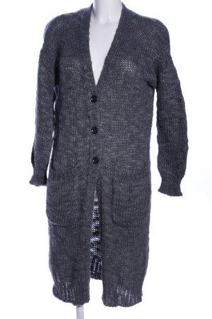 United Colors of Benetton Cappotto a maglia grigio chiaro puntinato stile casual