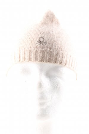 United Colors of Benetton Knitted Hat natural white casual look