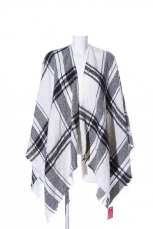 United Colors of Benetton Knitted Poncho white-black check pattern casual look