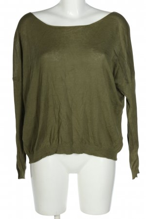 United Colors of Benetton Strickpullover khaki Casual-Look