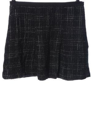 United Colors of Benetton Jupe tricotée noir-blanc imprimé allover