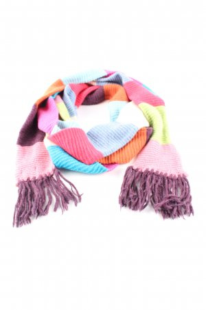 United Colors of Benetton Knitted Scarf striped pattern casual look