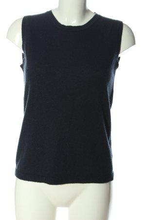 United Colors of Benetton Gilet tricoté noir style décontracté