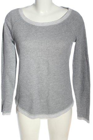 United Colors of Benetton Sweatshirt hellgrau meliert Casual-Look