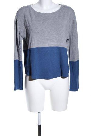 United Colors of Benetton Sweatshirt blau-hellgrau meliert Casual-Look