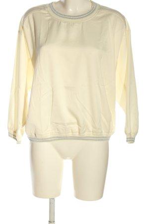 United Colors of Benetton Sweatshirt creme-silberfarben Casual-Look