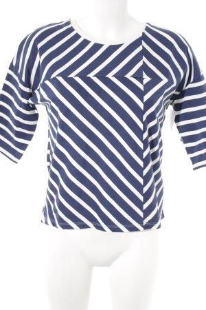 United Colors of Benetton Sweatshirt wollweiß-dunkelblau abstraktes Muster
