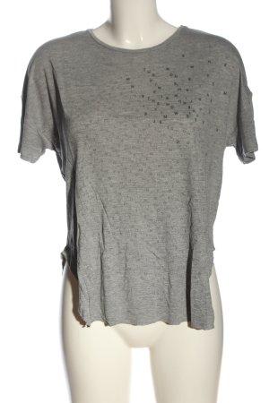 United Colors of Benetton T-Shirt hellgrau-schwarz meliert Casual-Look