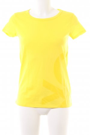United Colors of Benetton T-Shirt blassgelb abstraktes Muster Casual-Look