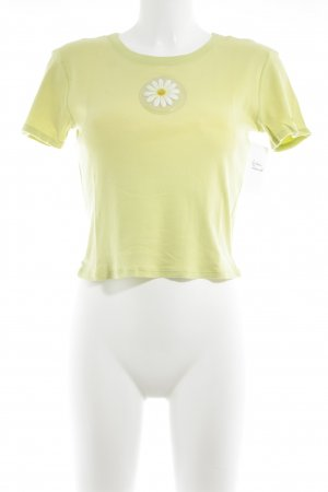 United Colors of Benetton T-Shirt neongelb-weiß Casual-Look