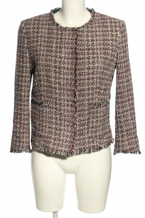 United Colors of Benetton Tweed blazer bruin-room volledige print