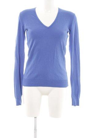 United Colors of Benetton V-Ausschnitt-Pullover blau Casual-Look