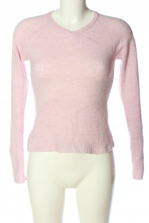 United Colors of Benetton V-Ausschnitt-Pullover pink Casual-Look
