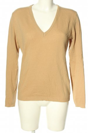 United Colors of Benetton V-Ausschnitt-Pullover nude Casual-Look