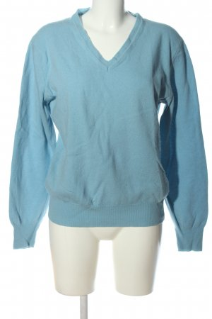 United Colors of Benetton V-Ausschnitt-Pullover blau Casual-Look