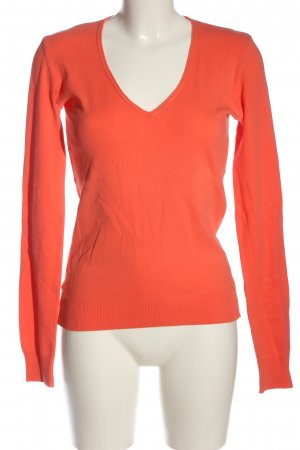 United Colors of Benetton V-Ausschnitt-Shirt hellorange Casual-Look
