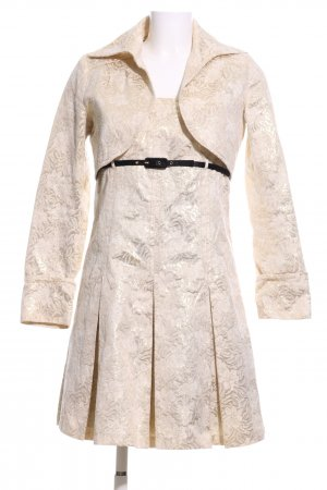 United Colors of Benetton Web Twin Set goldfarben Blumenmuster Elegant