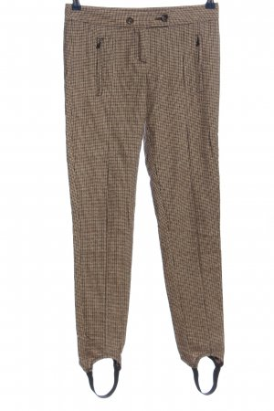 United Colors of Benetton Woolen Trousers brown check pattern casual look