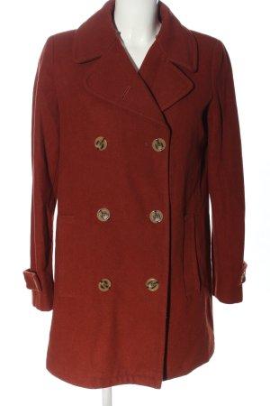 United Colors of Benetton Wełniany płaszcz czerwony W stylu biznesowym
