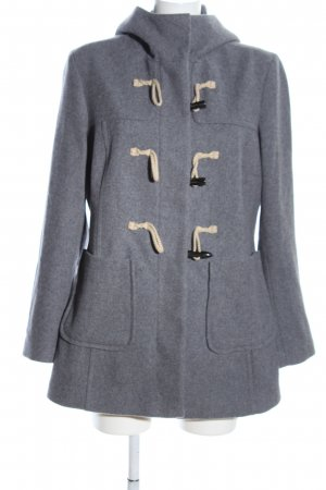 United Colors of Benetton Wool Coat light grey flecked casual look