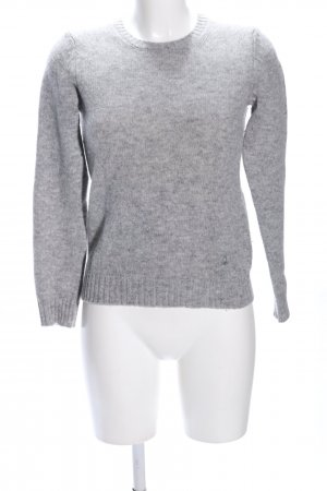 United Colors of Benetton Wool Sweater light grey flecked casual look