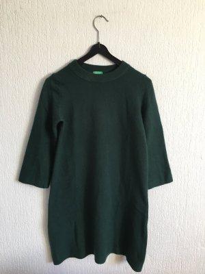 United Colors of Benetton Pull long vert foncé
