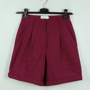 United Colors of Benetton High-Waist-Shorts magenta wool