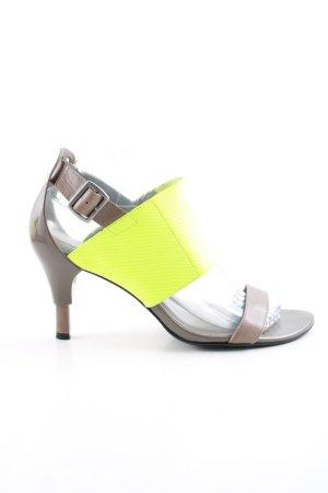 United nude High Heel Sandaletten braun-blassgelb Elegant