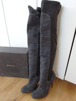 United Nude Pin Thigh HI Overknee Stiefel Leder grey 41 NEU